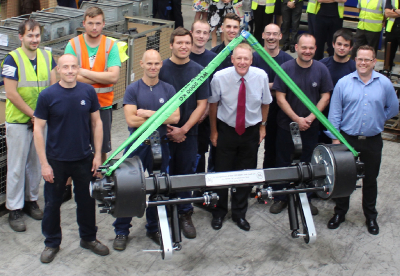 100,000th Axle to customers in the UK