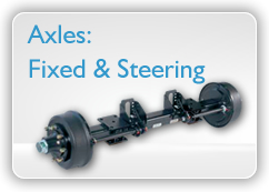 Axles: fixed and steering